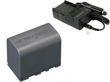 2200mAh Battery+Charger for JVC Everio GZ-HD10U GZ-HD7U GZ-HD6U GZ-HD5 Camcorder