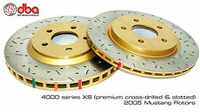 DBA 4000 Series Drilled & Slotted Front Rotors 2005-2010 FORD MUSTANG GT 4.6L