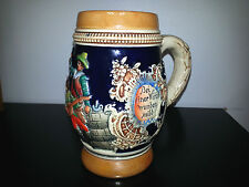 German Beer Stein Mug Germany Hand Painted Marked Stamped 5 Times Very Old Rare