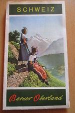 Reiseprospekt Schweiz Berner Oberland diverse  Panoramen auffaltbar,1950er Jahre