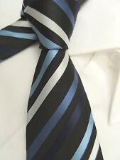 URBAN Spirit Imbottito a Righe Blu Bianco 3 in (ca. 7.62 cm) in poliestere Cravatta