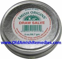 AMISH ORIGINS DRAW SALVE STOP PAINFUL SKIN IRRITATIONS RELIEF SORES STINGS NEW