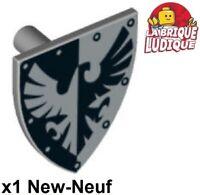 Lego 2 Piece Knights Shield Light Gray Oval 2586 Plate NEW Light Bluish Gray