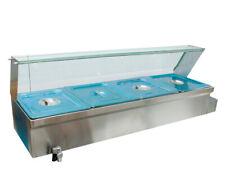 4 Pots Food Warmer Bain Marie Buffet Steamer Heater 6 Deep Pan 12 Size