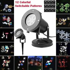 Moving LED Laser Star Snowflake Christmas Light Shower Outdoor Home Garden Decor