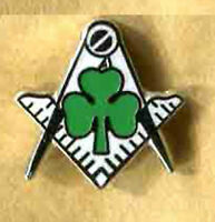 irish freemason lapel badge masonic masonry compass and square the craft