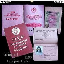 Anc.document-LIVRET-passeport-Russe-CCCP-URSS-soviétique-Russie-1995-rare