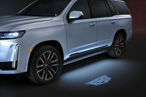 2021 Escalade Mirror Puddle Light Kit w/Cadillac Logo GM OEM NEW 84388982