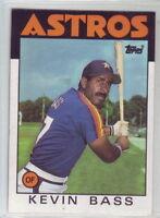 1986 Topps Baseball Houston Astros Team Set