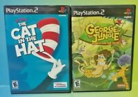 Cat in The Hat + George of Jungle - PS2 Playstation 2 Game Lot Works Complete