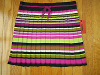 New Missoni for Target Girls Size XL Striped Pleated Sweater Knit Skirt