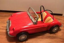 1998 Barbie Cool Convertible Car Red Sports Coupe Chrome Trim