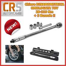 Chiave DINAMOMETRICA 28->210 Nm Omologata TUV + 3 Bussole 17/19/21 - CRICCHETTO