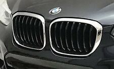 BMW Brand 2018+ G01 X3 OEM M Sport Chrome With Black Front Grille Pair Brand New
