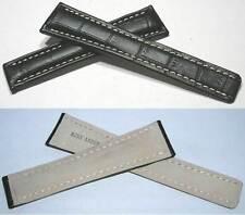 20-18 mm Faltschließenband Alligatorprägung Kompatibel mit Breitlingfaltschließe
