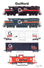 "Guilford Transportation 11""x17"" Poster by Andy Fletcher signed"