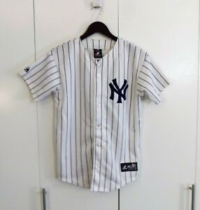 Majestic Derek Jeter New York Yankees Baseball Jersey Youth Large