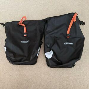 Ortlieb Small Front Black Pair Of Pannier Bags Waterproof USED once.