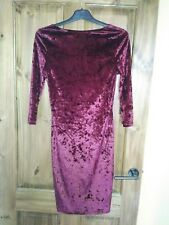BNWT Atmosphere Burgundy Velour Dress 12 from Primark