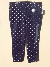 OLD NAVY PIXIE ANKLE PANTS NAVY WHITE DOTS SZ 16~NWT