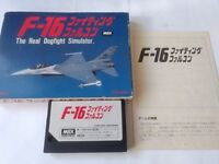 MSX F16 FIGHTING FALCON MSX2 Cartridge,manual,Boxed set tested-A-