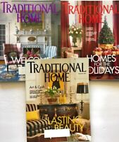 3 Traditional Home 2001 Magazines Decorating Architecture Gardening Food Antique