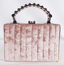 NASTY GAL GIRL Pink Quilted Velvet  Crossbody Box Bag Msrp $98