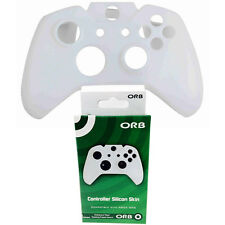 BRAND NEW ORB XBOX ONE CONTROLLER RUBBER SILICONE SKIN COVER CASE WHITE 020914
