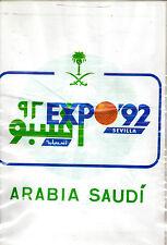 Bolsa de plastico con publicidad de Arabia Saudi y Expo 92 Sevilla (BV-272)