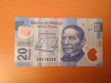 BANCONOTA MEXICO 20 PESOS 2011 SUP PICK 122e POLYMER BANKNOTE VG