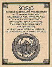 Scarab Prayer Egypt Shaman Animal Spirit Poster Art 8 1/2X11 Egyptian Wicca
