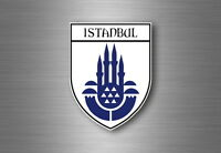 Sticker decal souvenir car coat of arms shield city flag turkey istanbul