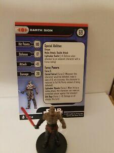 Star Wars Miniatures Darth Sion Sith Team Builder