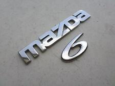 03-08 Mazda 6 Tailgate Logo GK2A-51-711 Emblem GK2A-51-721 Decal Ornaments Set