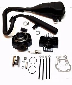 YAMAHA PW 50 PW50 EXHAUST MUFFLER ASSEMBLY CYLINDER PISTON TOP END KIT 1981-2009