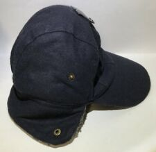 APT. 9 FAUX FUR BASEBALL TRAPPER HAT WITH EAR FLAP - NAVY - S/M - MSRP $26
