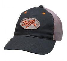 G Loomis Distressed Oval Hat Cap Navy w/ Gray Mesh Back & Fish Bone Logo OSFM