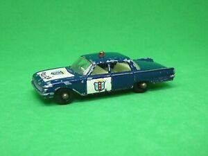 Matchbox Lesney No.55b Ford Fairlane Police Car (RARE DARK BLUE)