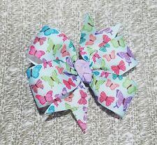 Butterfly hair bows non slip alligator clip 3inches pinwheel lilac