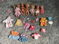Barbie 6 X Babypuppen Baby Kleider Schuhe und Zubehör Konvolut Mattel