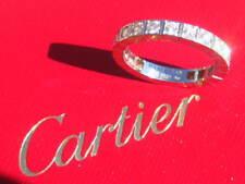 CARTIER LANIERES DIAMOND WEDDING ENGAGEMENT 18K WHITE GOLD RING 55 US 7 1/4