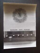 PHOTO ORIGINALE DES ANNEES 50 AEROPORT DE PARIS LE BOURGET L'HORLOGE