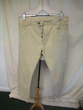 "Mens Trousers Aquascutum waist 36"" inside leg 31"" ivory cotton five pockets 8174"