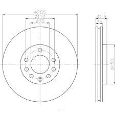 Disc Brake Rotor-Aero Front Hella-PAGID 355122552