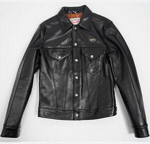 RRP £840 Lewis Leathers OUTLET MENS JACKET 988 Western Jacket Black Horse 36