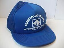 Brentwood Motors International Trucks Moncton Hat VTG Blue Snapback Trucker Cap