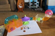 Rare lot Vtg Littlest Pet Shop Hamster / guniea pig habitat house tunnels figure