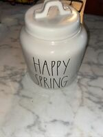 Rae Dunn 2018 Release Happy Spring Canister Farmhouse LL large letter Rare