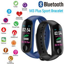 Smart Watch Bracelet Wristband Fitness Tracker Blood Pressure HeartRate M3 Plus