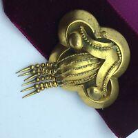 Victorian Georgian Pinchbeck or Gilt Metal Brooch pin with tassel
